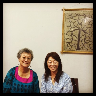 Yin Marsh (left) and Joy Ma at the Zubaan office in Shahpur Jat October 2015