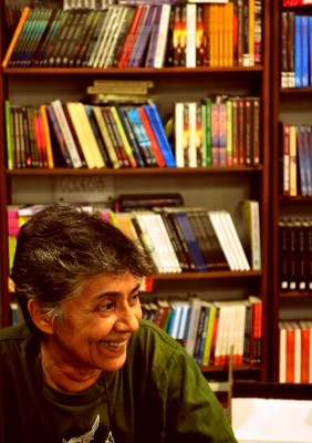 June 2015: Lala Rukh at the Zubaan office. Photograph by Shamini Kothari.
