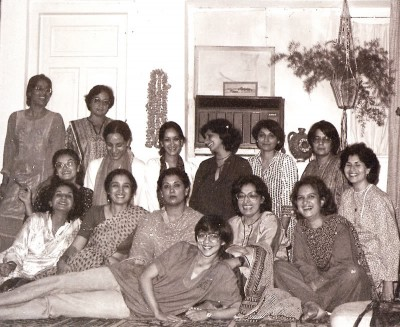 October 1982: Lala (in front) at the national convention of the Women's Action Forum in Lahore. Photograph by Lala Rukh.